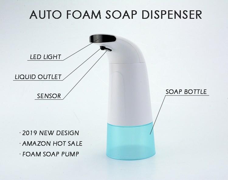 Home ABS Automatic Foam Sensor Soap Dispenser Hotel Hand Sanitizer Bottle